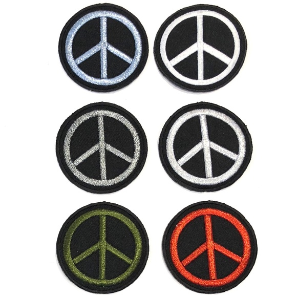Accessories - Peace Sign patch iron on hippie retro love DIY
